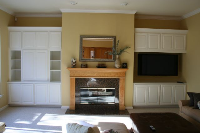 built in cabinets living room group picture image by